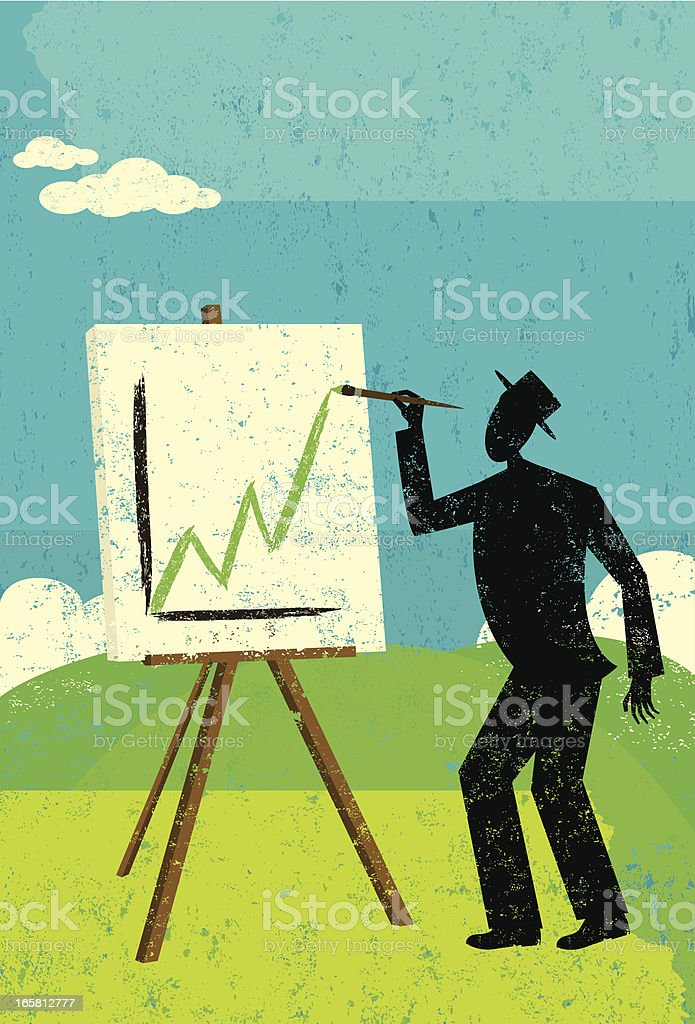 Projecting higher profits royalty-free stock vector art