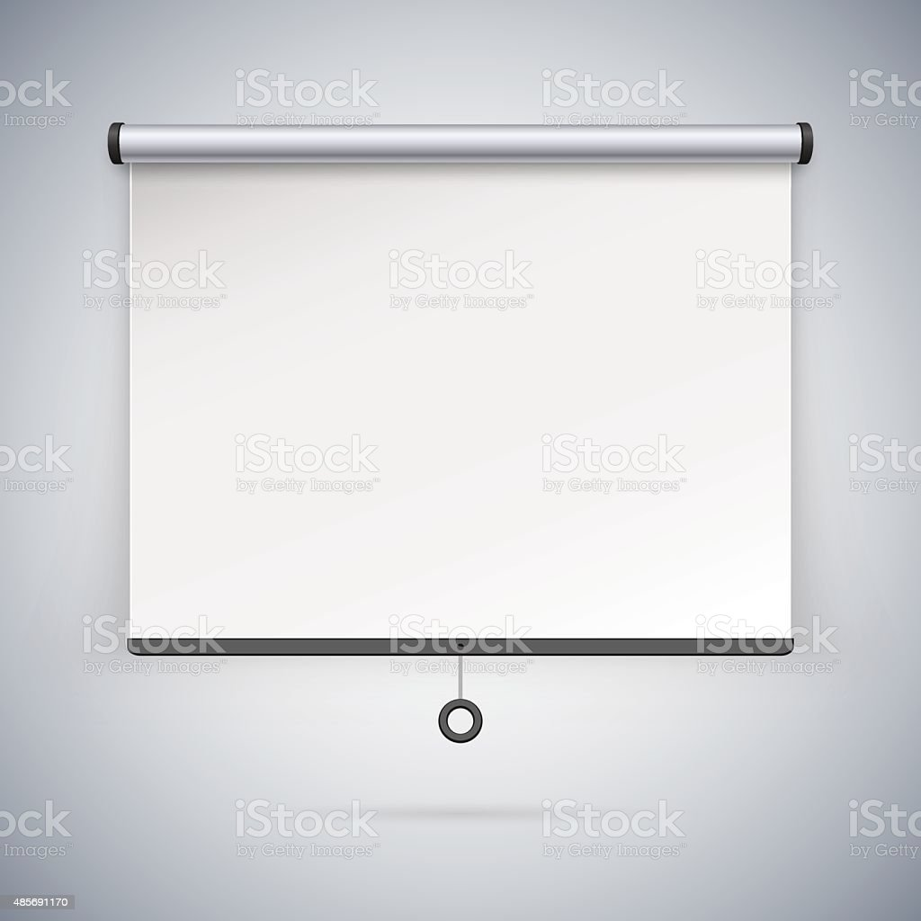 Projection Screen to Showcase Your Projects vector art illustration