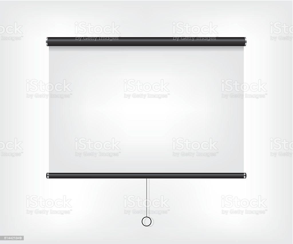 Projector blank screen vector art illustration