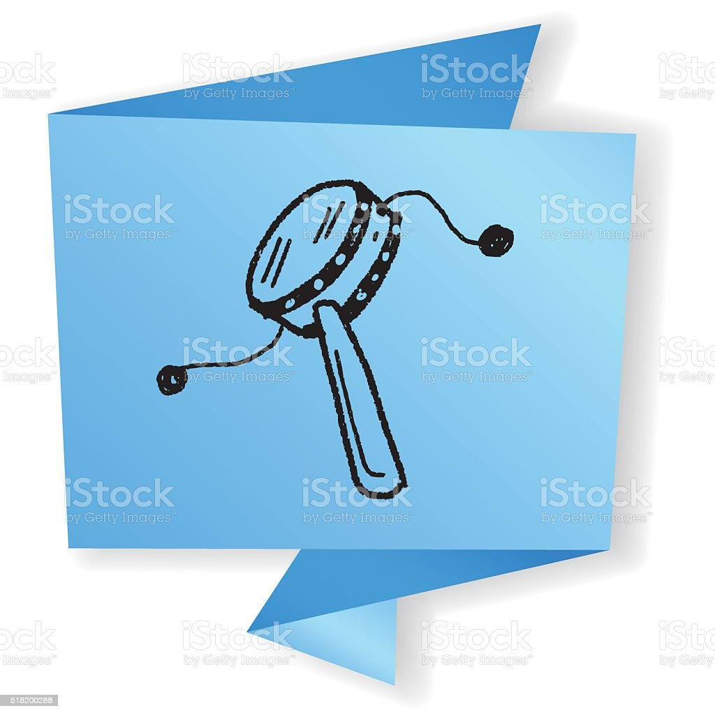 projector doodle vector art illustration