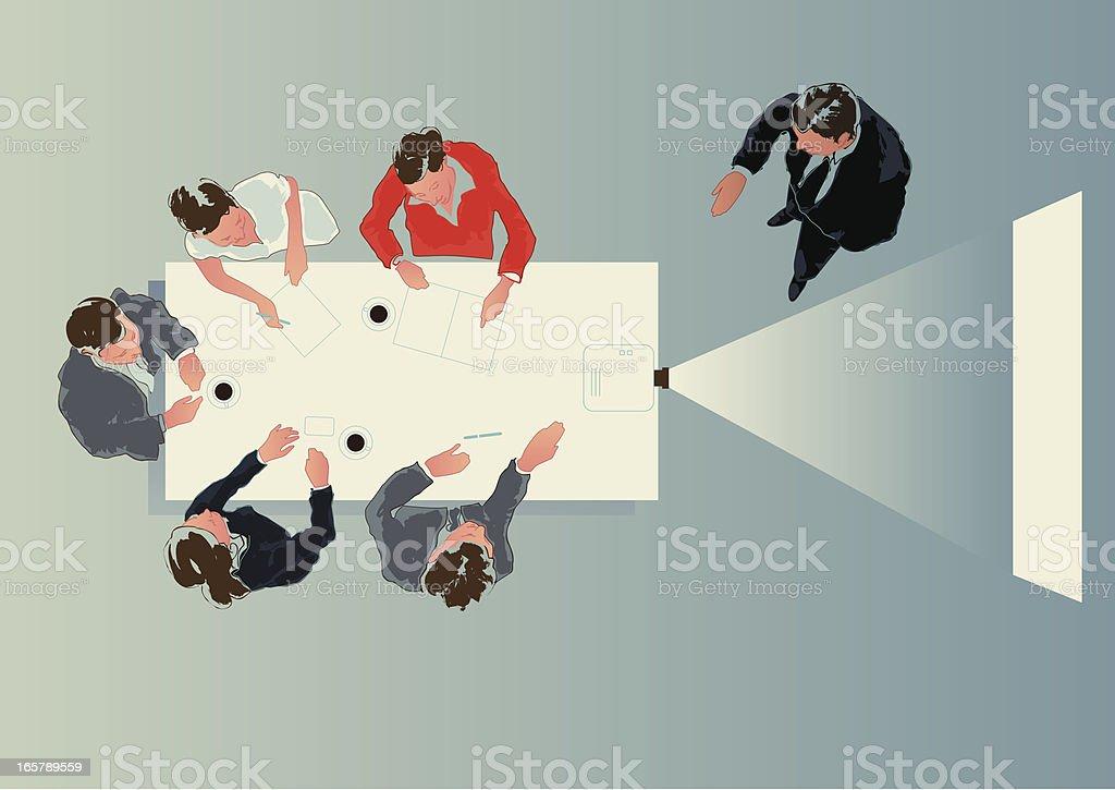 projector presentation vector art illustration