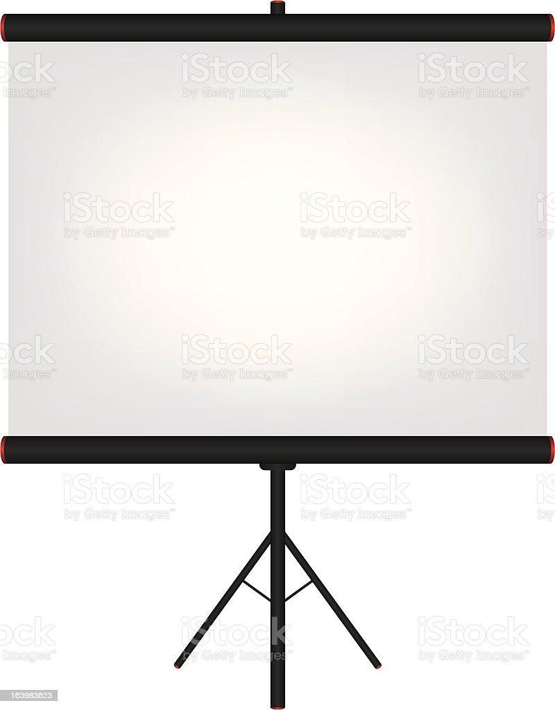 Projector screen black illustration royalty-free stock vector art