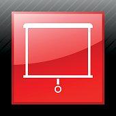Projector Screen icon on a square button.