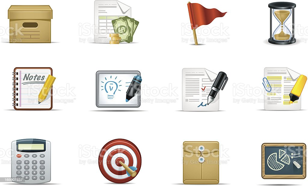 Projects Icon Set | Moderna Series royalty-free stock vector art