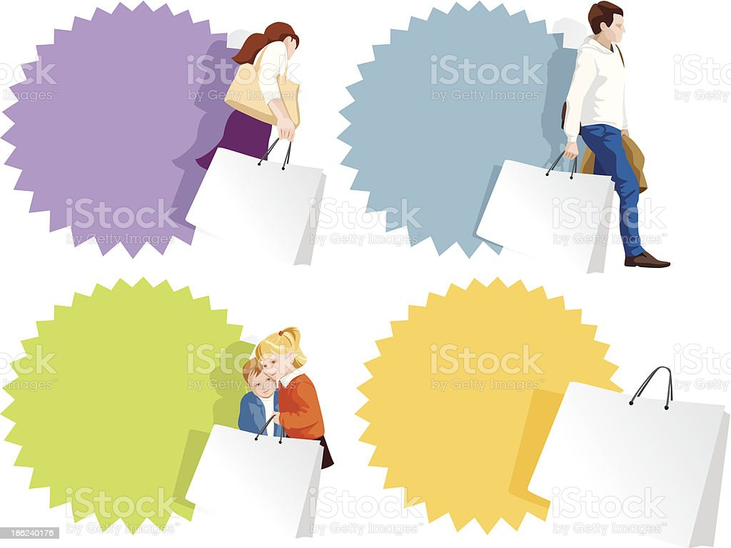 Promo badges set for shopping, sale or fashion royalty-free stock vector art