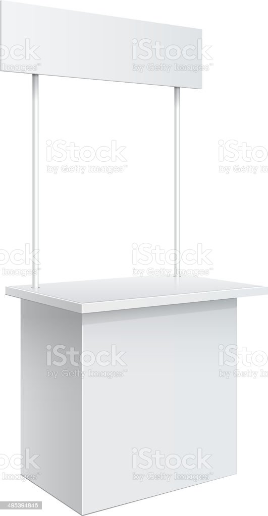 Promotion counter, Retail Trade Stand vector art illustration