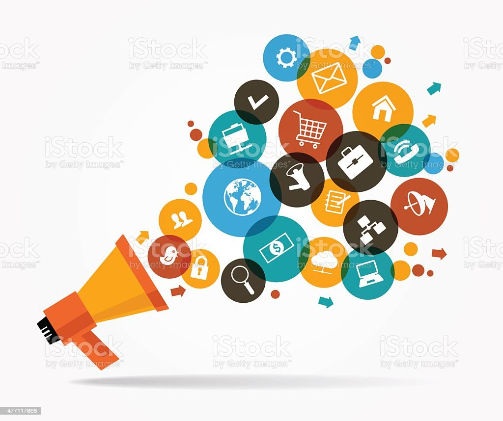 Promotion marketing vector art illustration