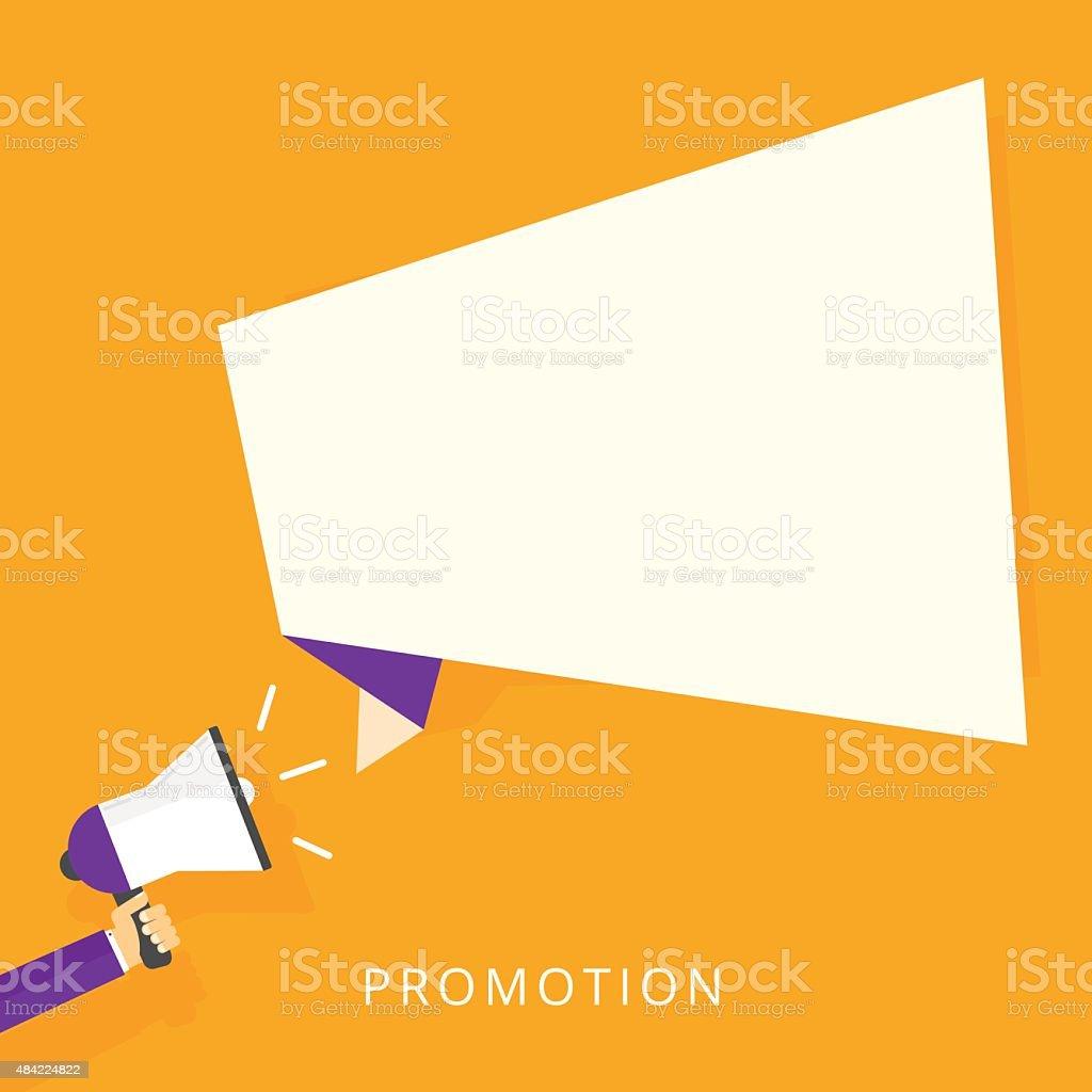 Promotion vector art illustration