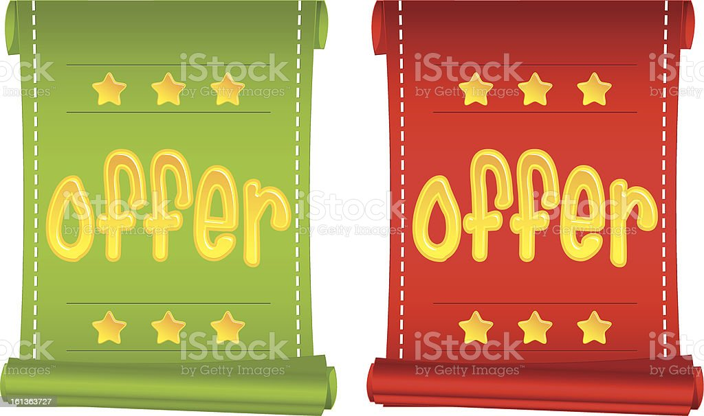 Promotional banners royalty-free stock vector art