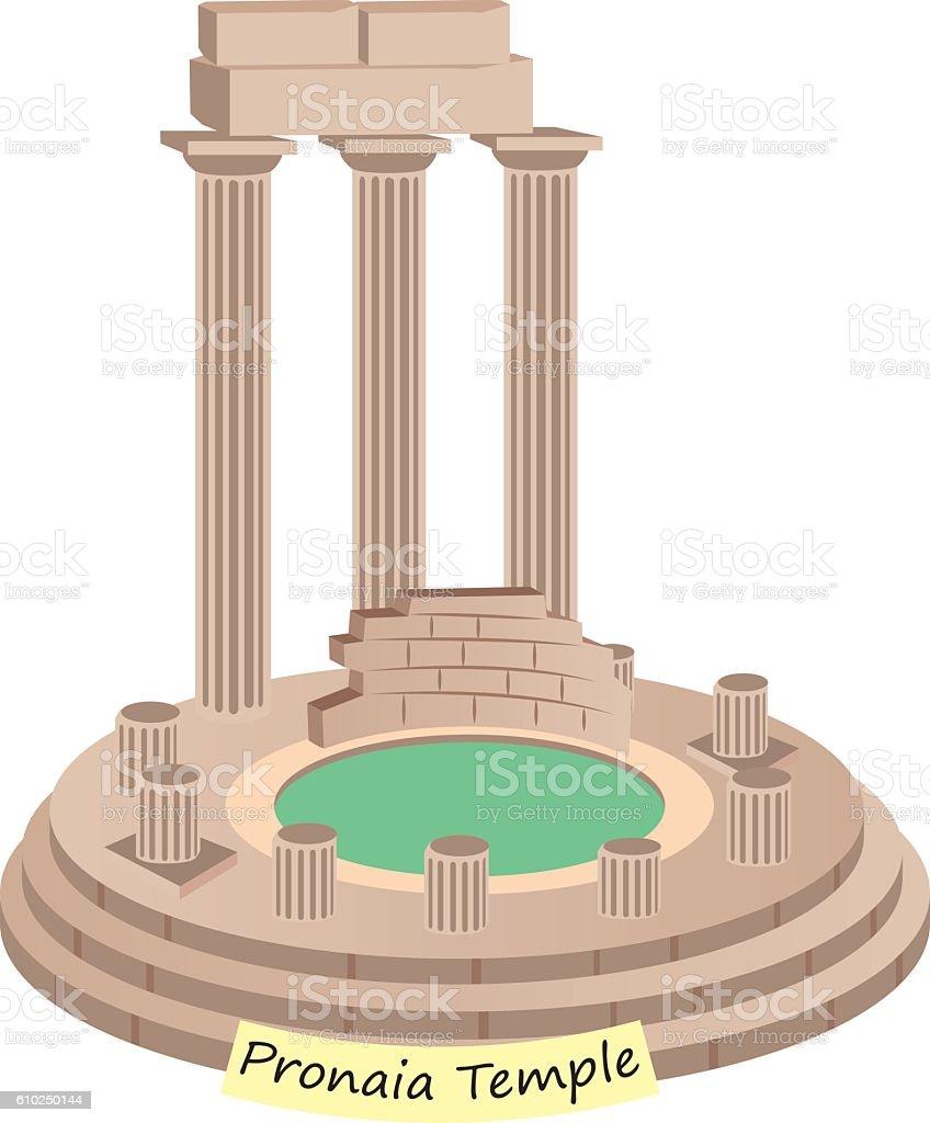 Pronaia Temple vector art illustration