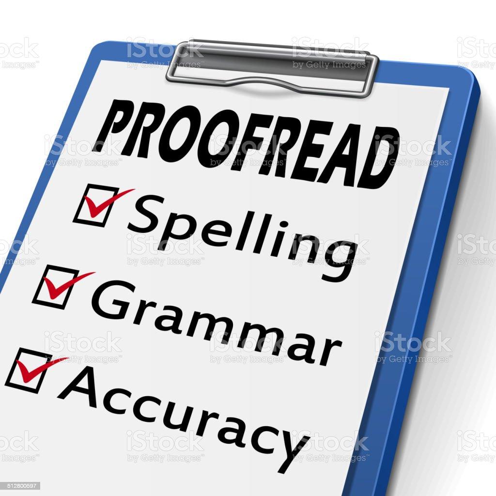 proofread clipboard vector art illustration