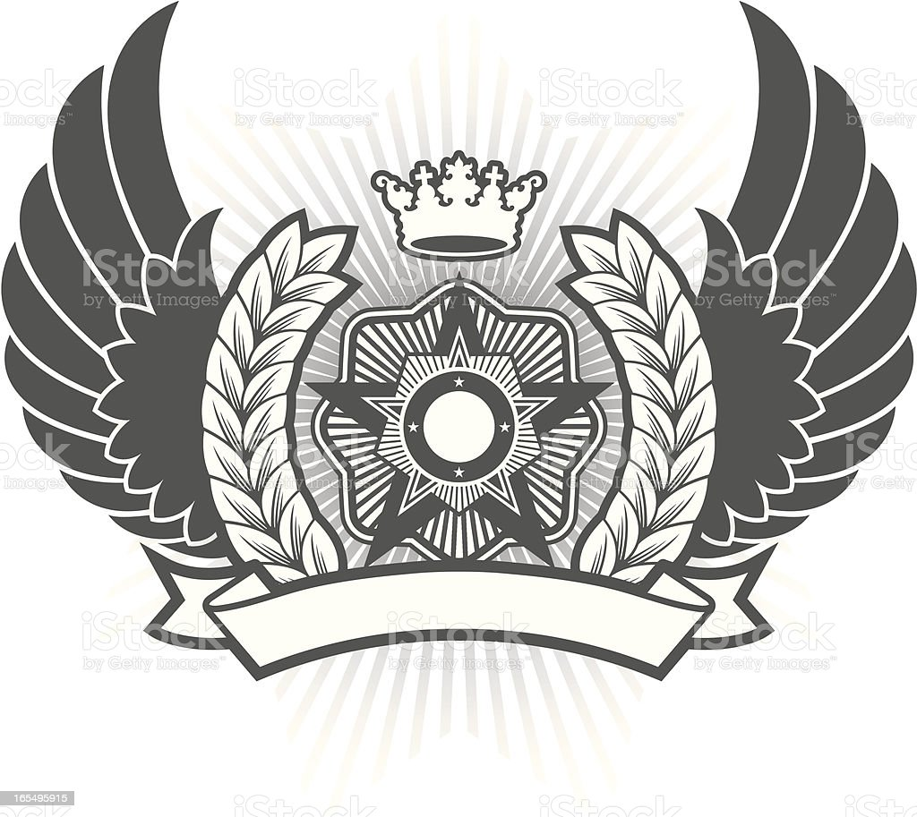 Propaganda crest royalty-free stock vector art