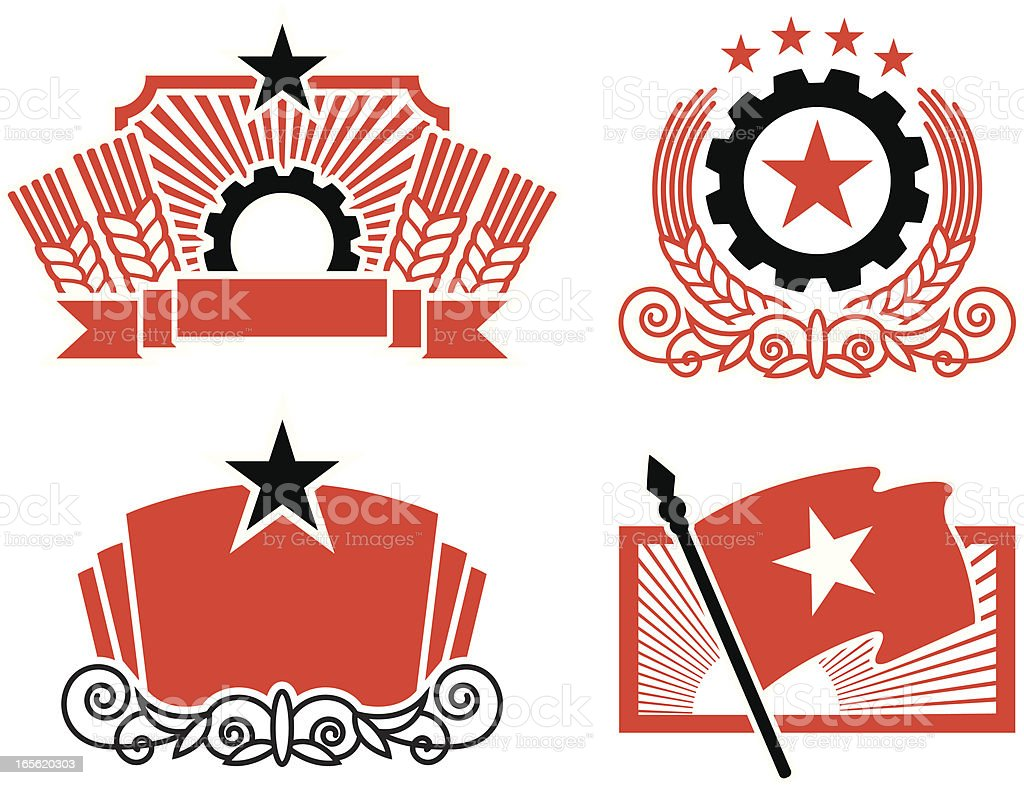 Propaganda elements royalty-free stock vector art