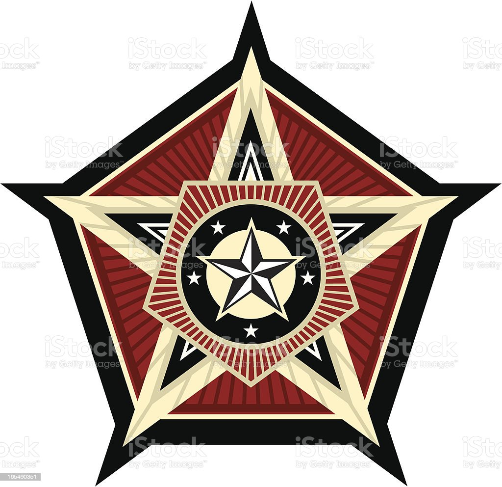 Propaganda pentagon royalty-free stock vector art