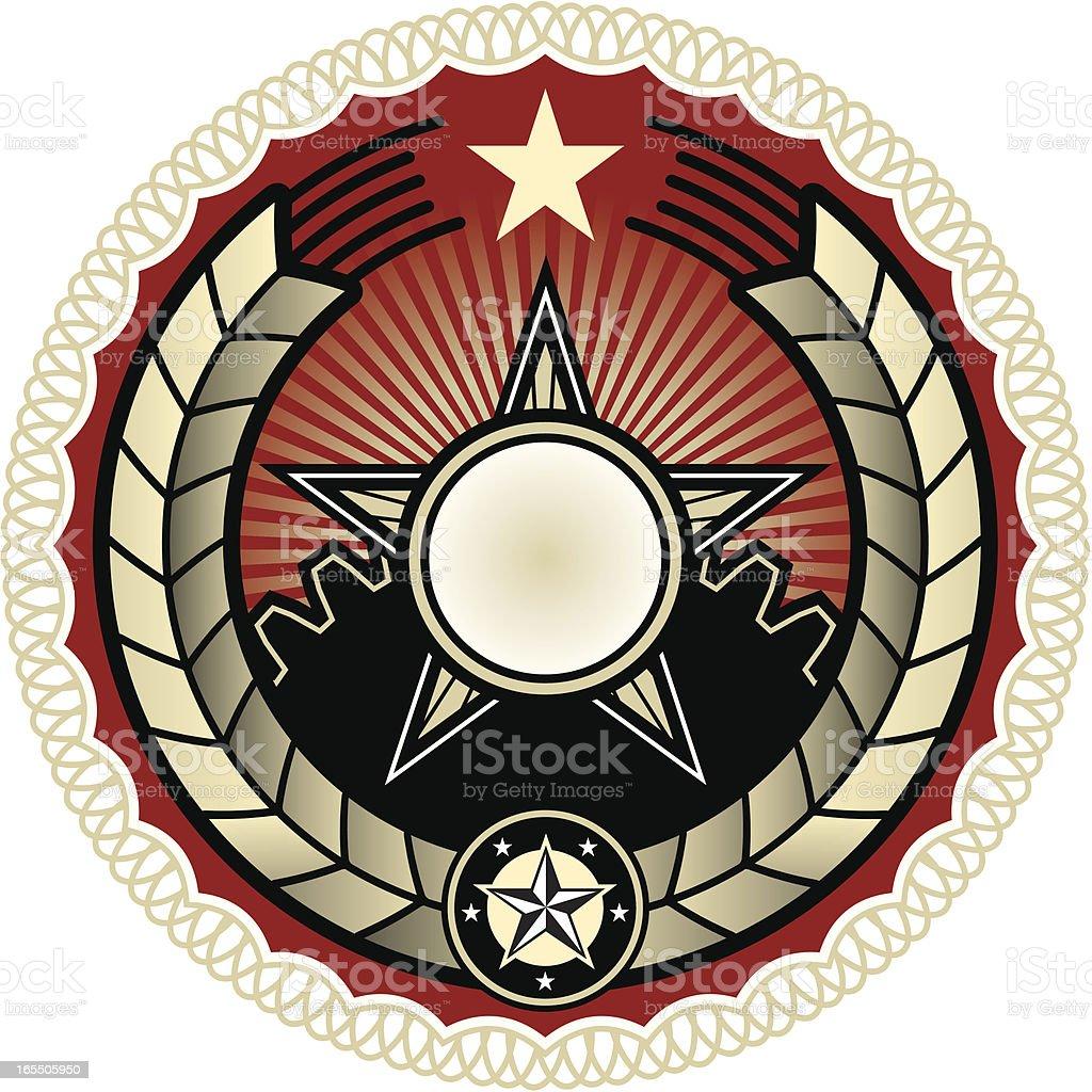 Propaganda style seal royalty-free stock vector art