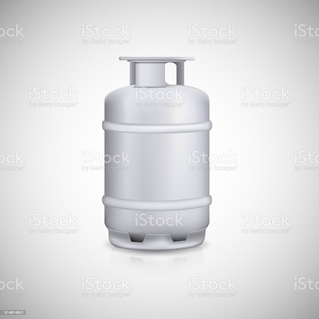 Propane gas balloon vector art illustration