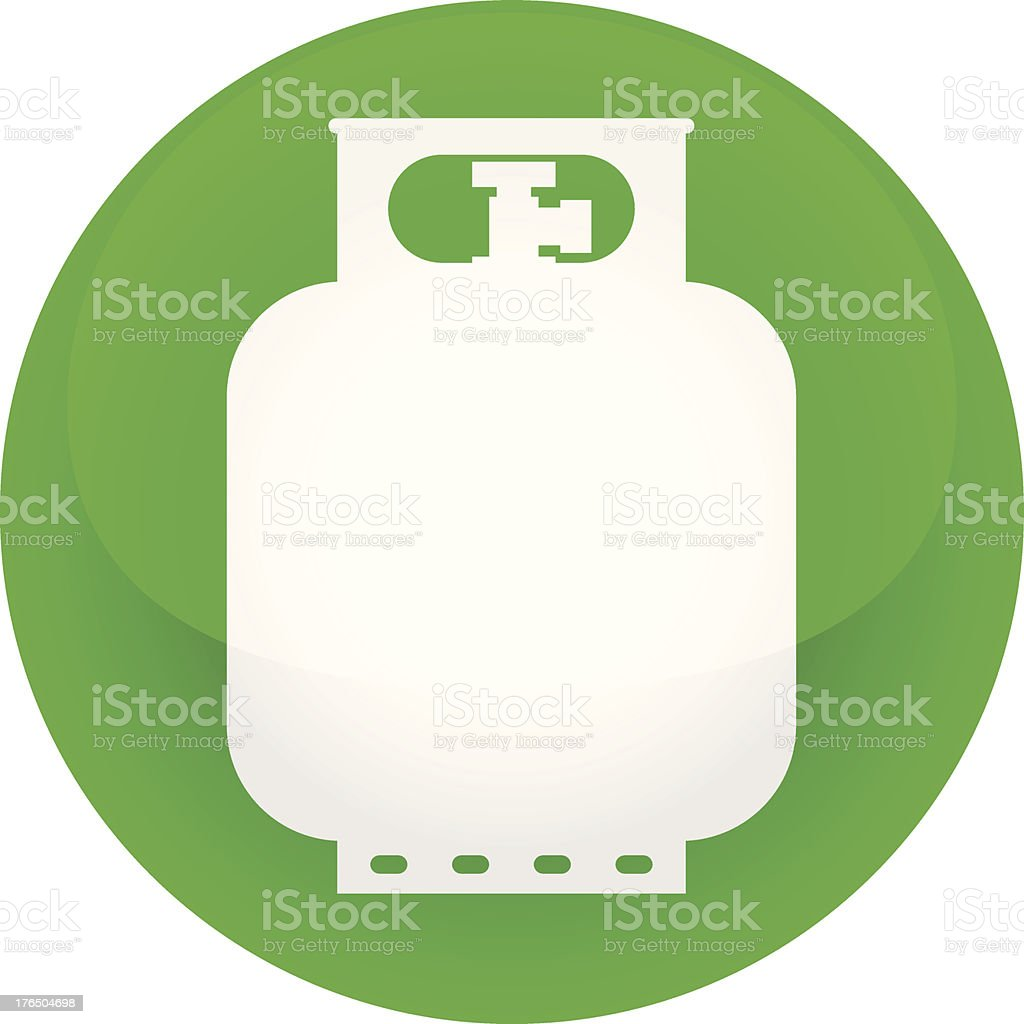 propane tank icon vector art illustration