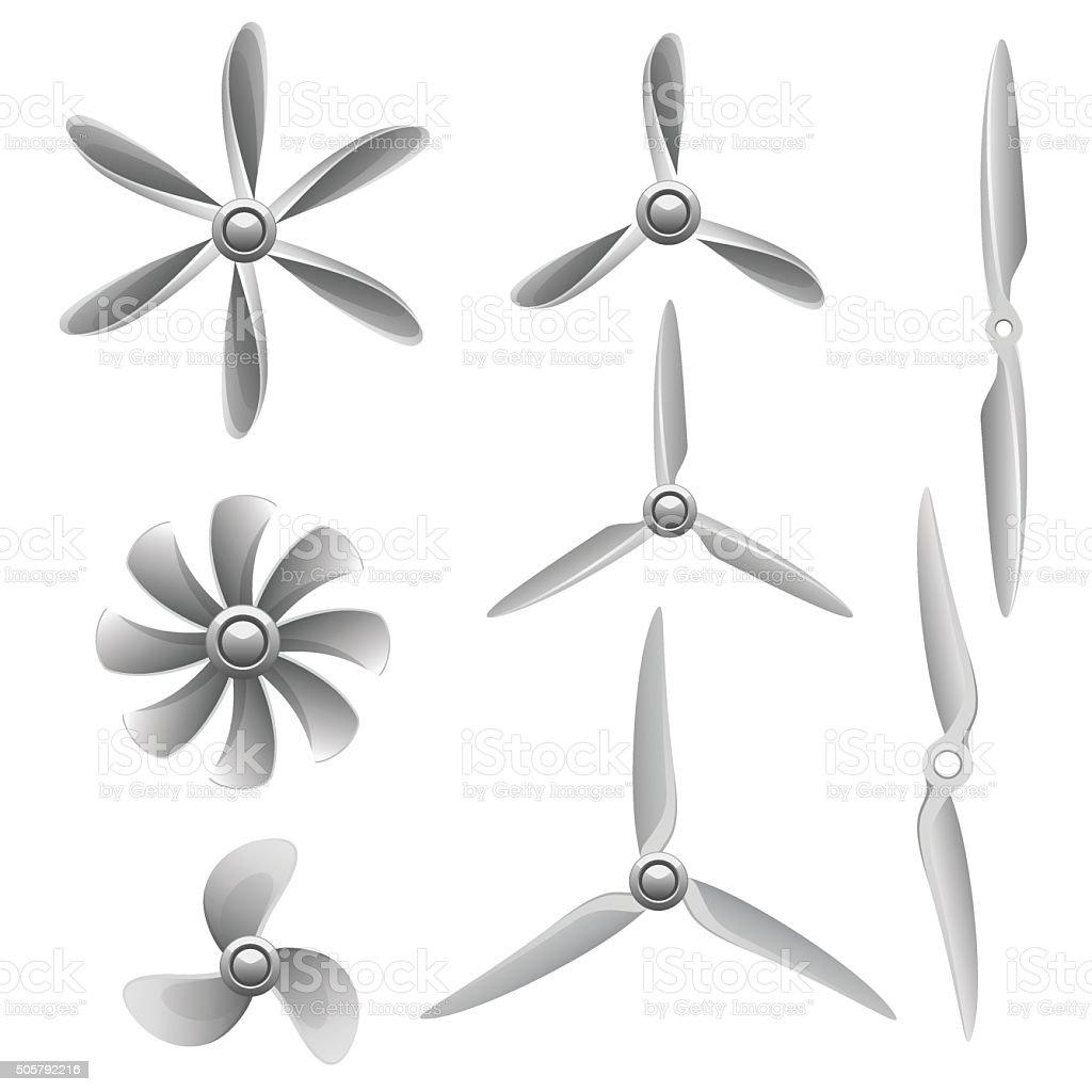 Propellers vector art illustration