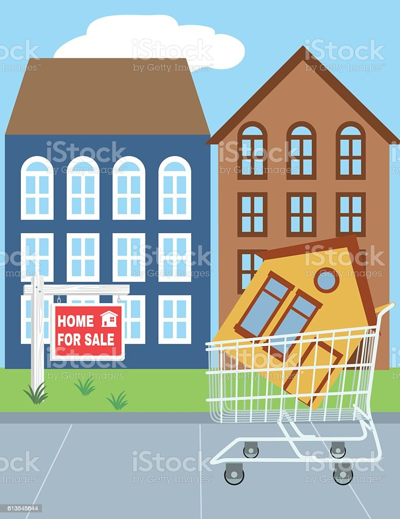 Properties for Sale Real verticale Banners vector art illustration