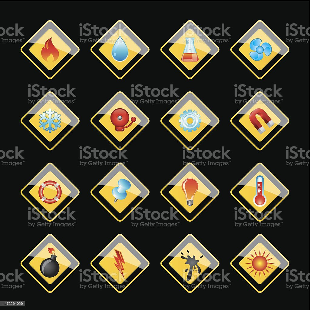 Properties of matter - icon royalty-free stock vector art
