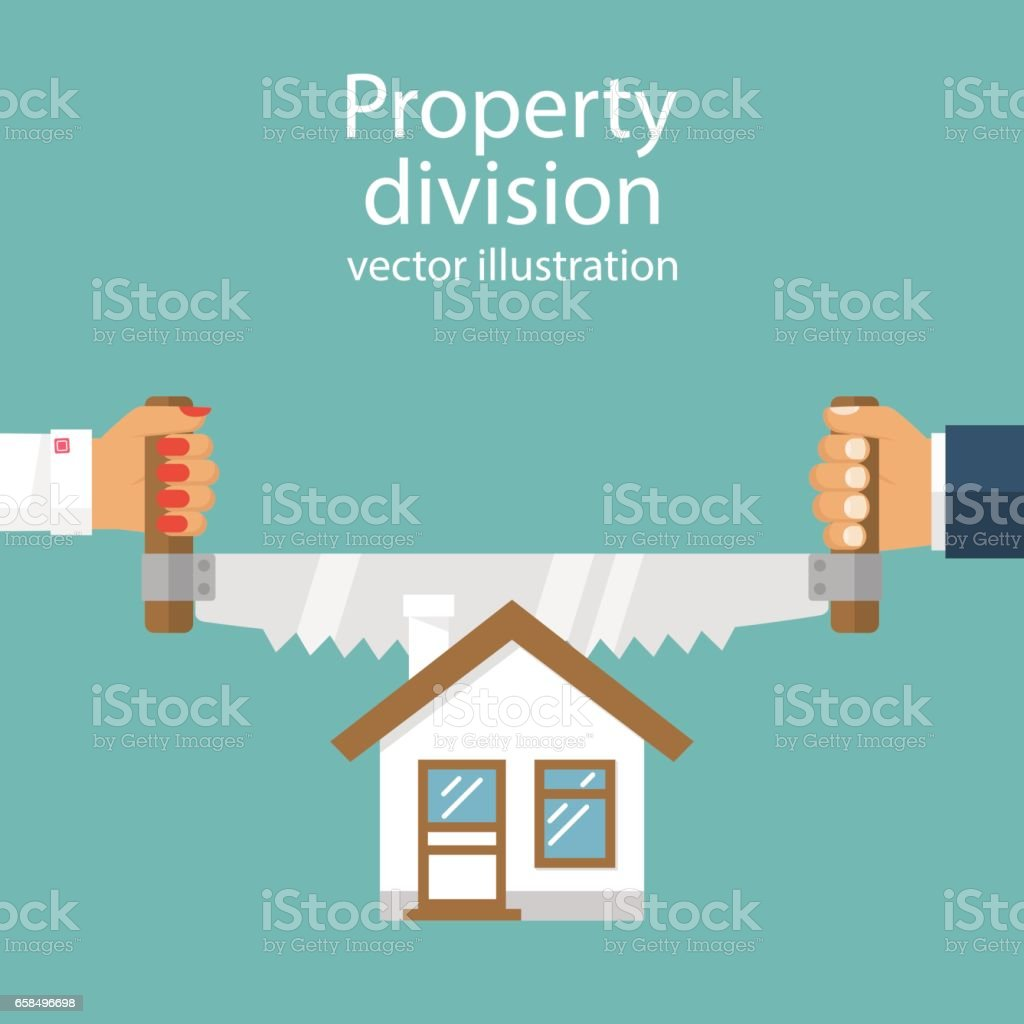 Property division. vector vector art illustration