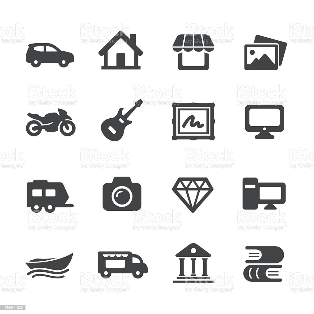 Property Insurance Icons - Acme Series vector art illustration