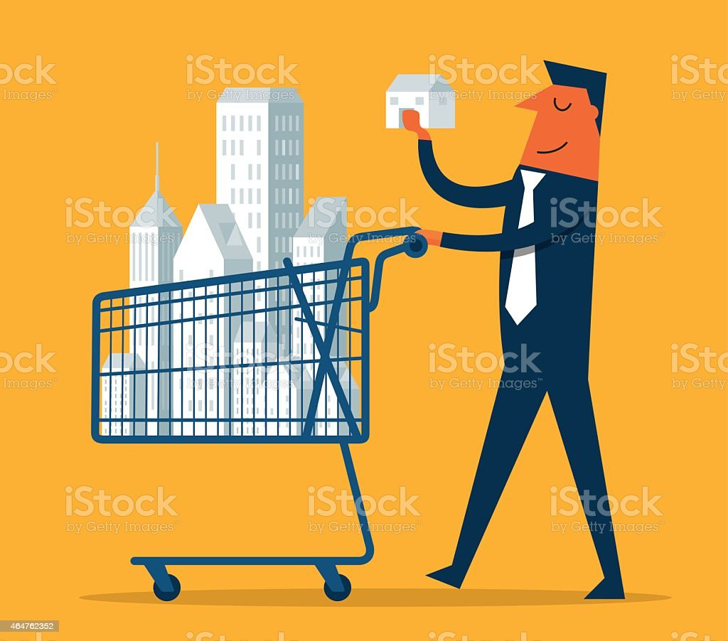 Property Investor vector art illustration