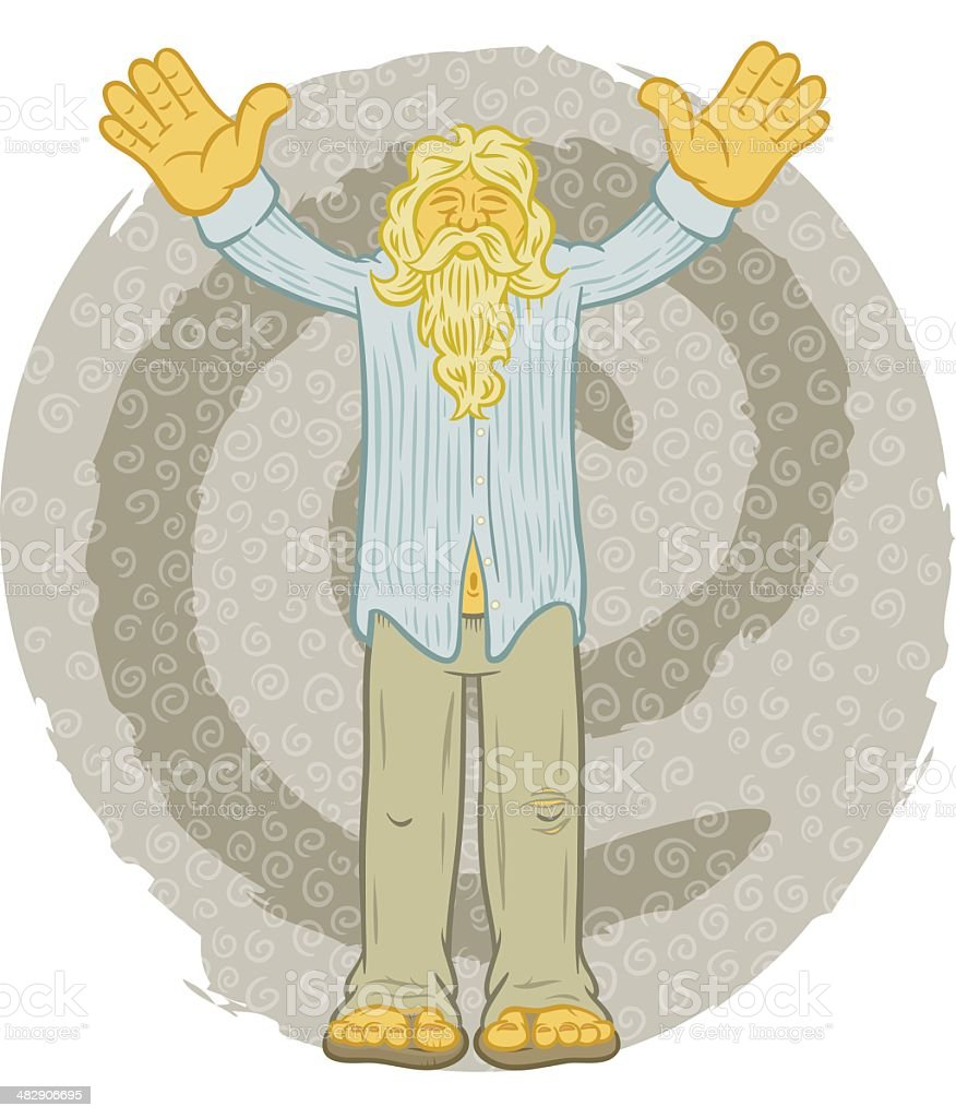 Prophet vector art illustration