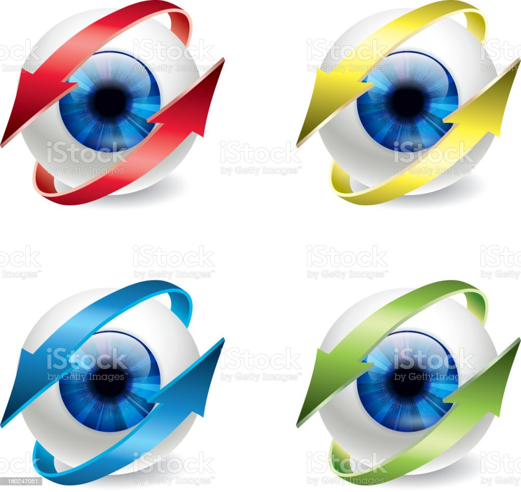 Protect eye royalty-free stock vector art
