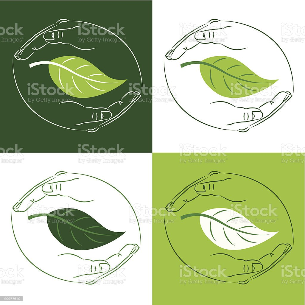 Protect Nature royalty-free stock vector art