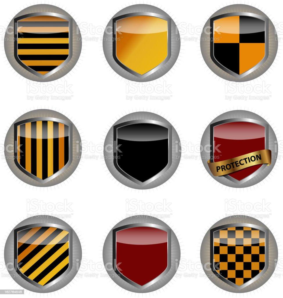 Protect shield set vector illustration royalty-free stock vector art