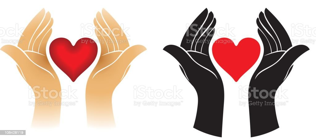 Protect the heart royalty-free stock vector art