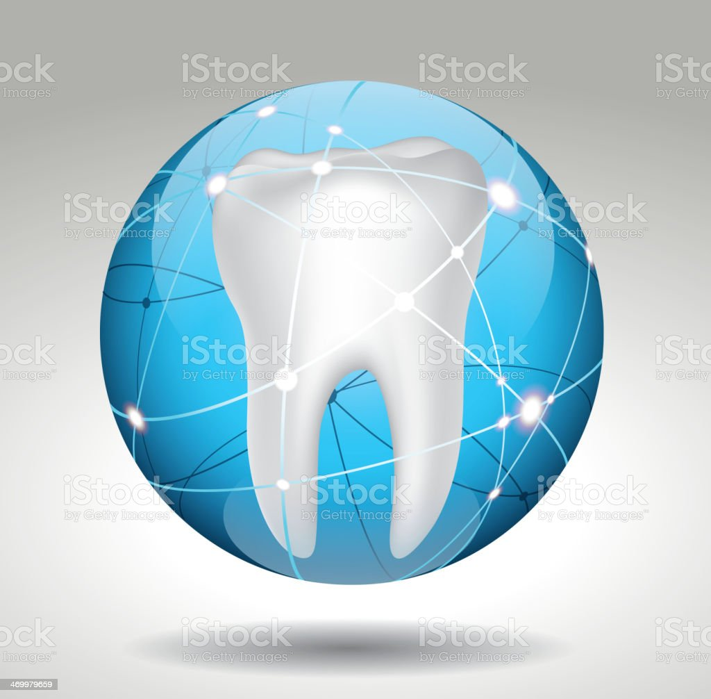 Protect tooth vector art illustration