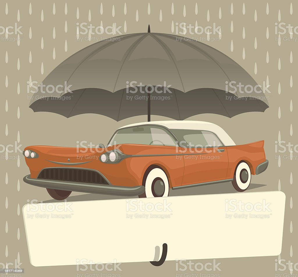 Protect your car royalty-free stock vector art
