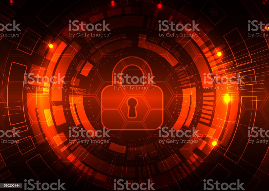 Protection background. Technology security. vector art illustration