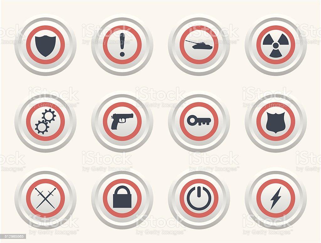 protection icon vector art illustration