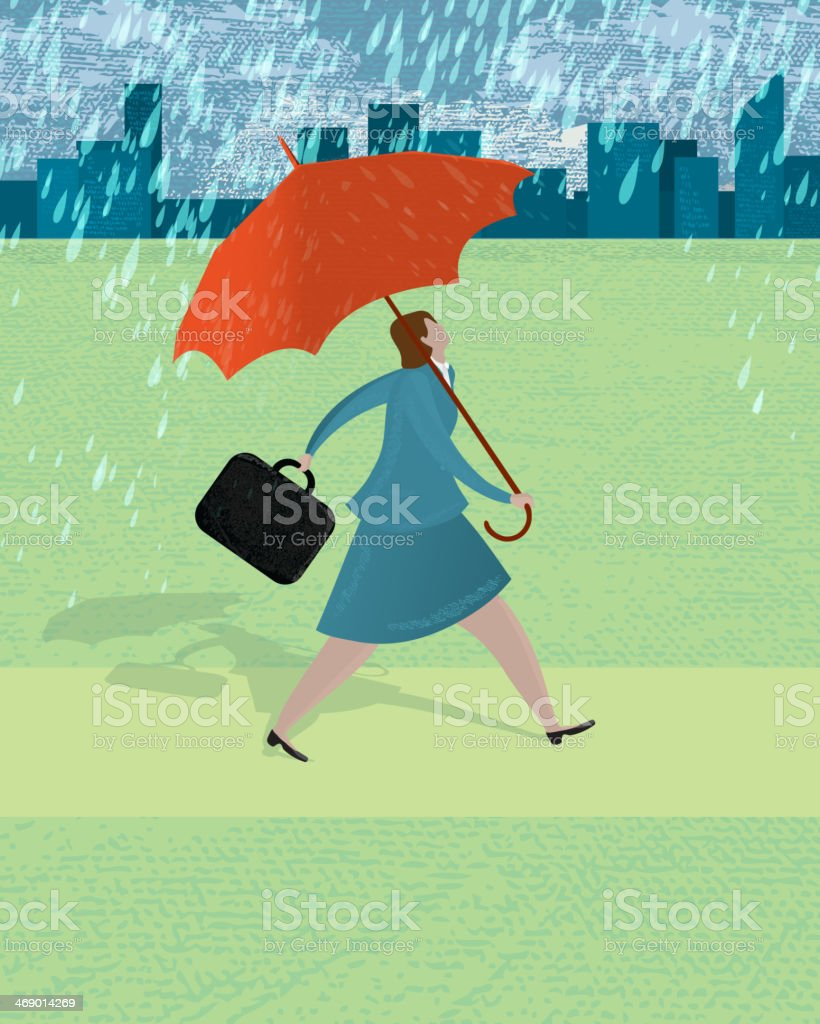 Protection in uncertainty concept royalty-free stock vector art