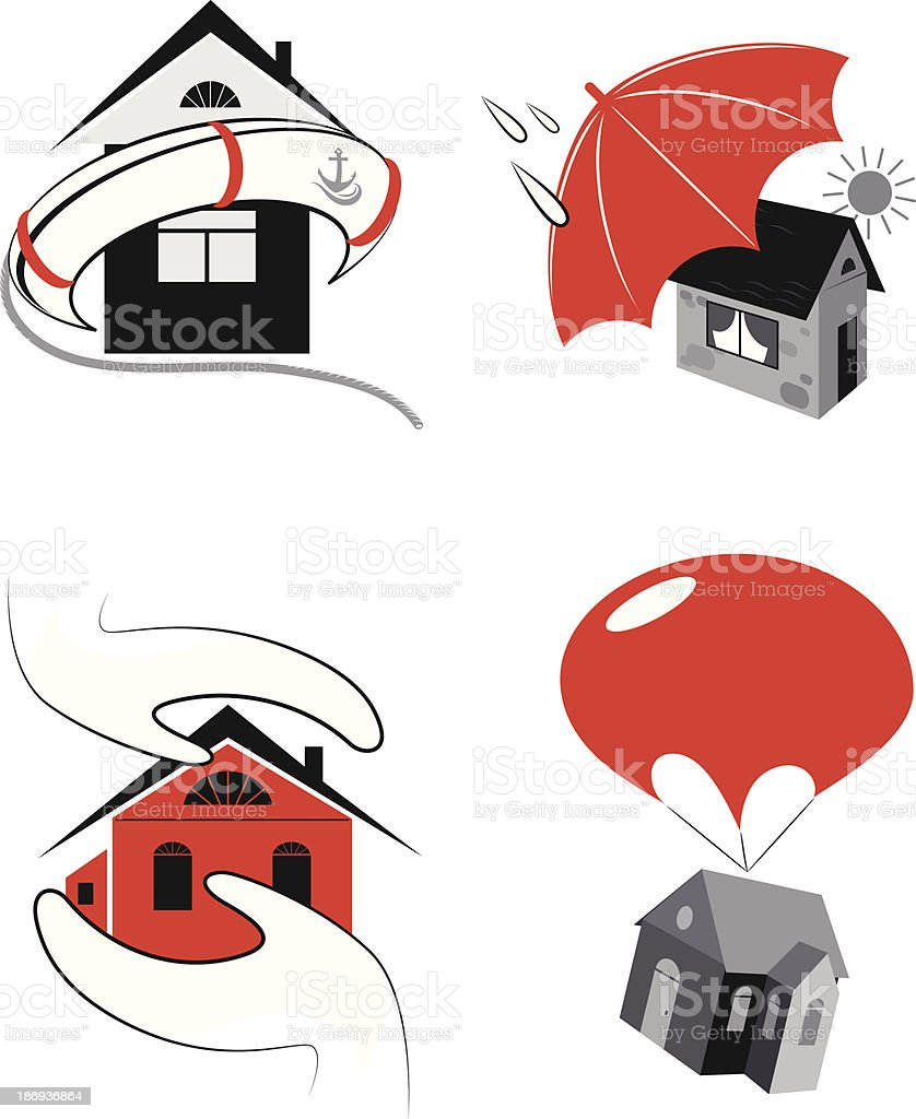 protection of the real estate royalty-free stock vector art