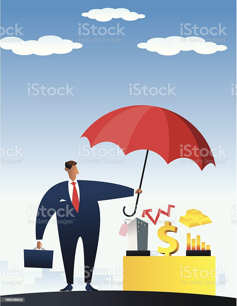 protection of values vector art illustration