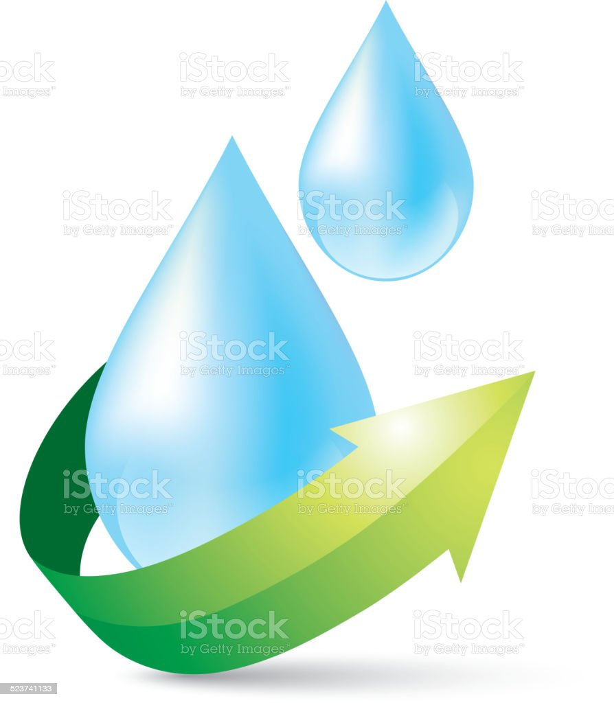 Protection of water resources vector art illustration