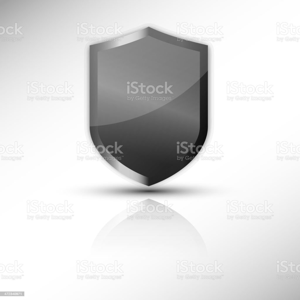 Protection shield vector icon vector art illustration