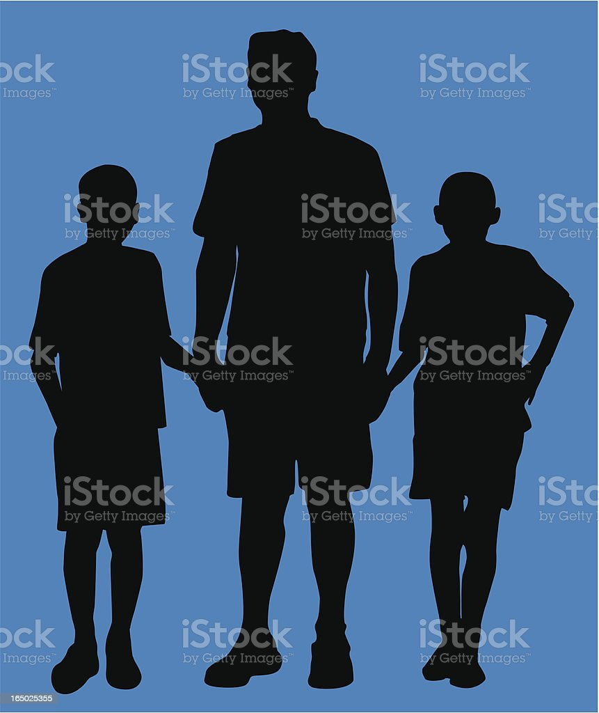 Protective Father ( Vector ) royalty-free stock vector art