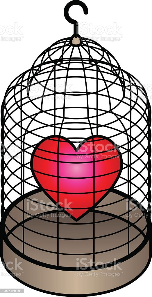 Protedted Heart vector art illustration