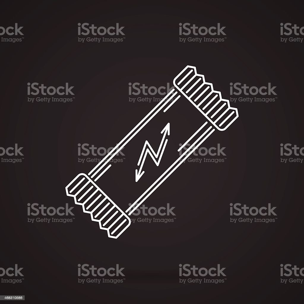 Protein bar white line vector icon vector art illustration