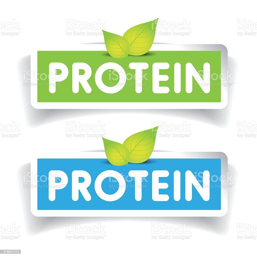 Protein label vector set vector art illustration