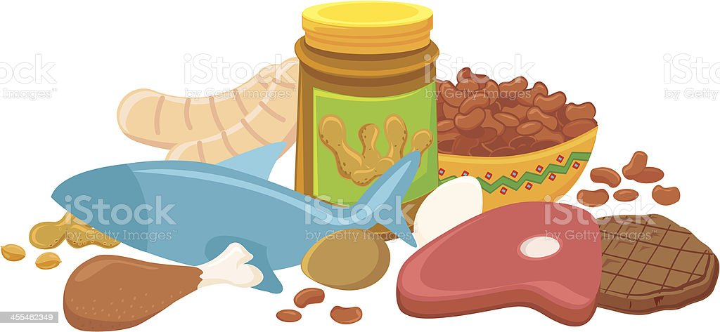 Protein Meat Group vector art illustration