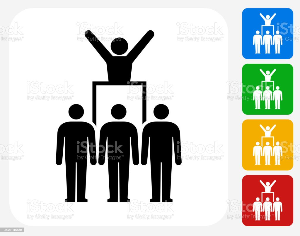 Protest and Leader Icon Flat Graphic Design vector art illustration