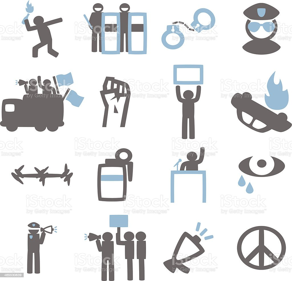 Protest vector art illustration