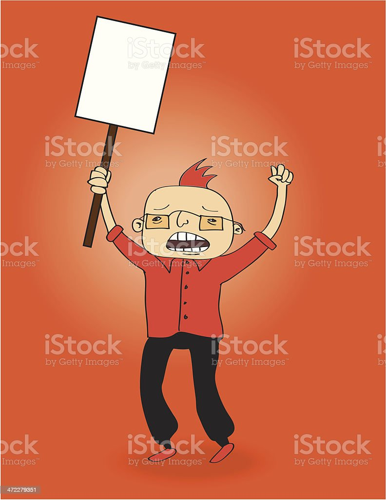 Protester royalty-free stock vector art
