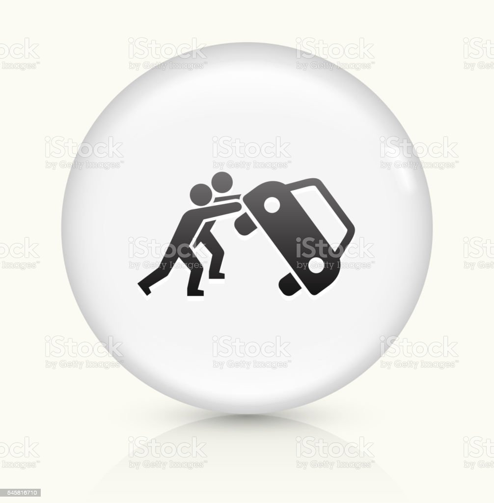Protesters Riot icon on white round vector button vector art illustration